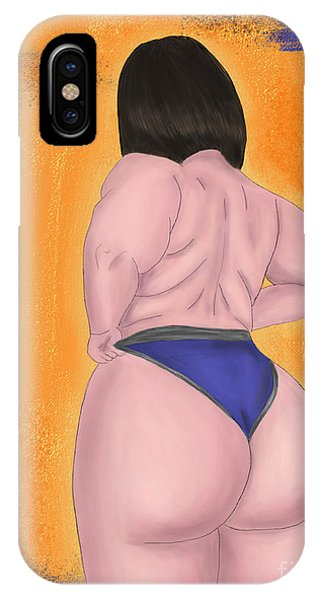 IPhone Case featuring the digital art #bodypositive by Bria Elyce