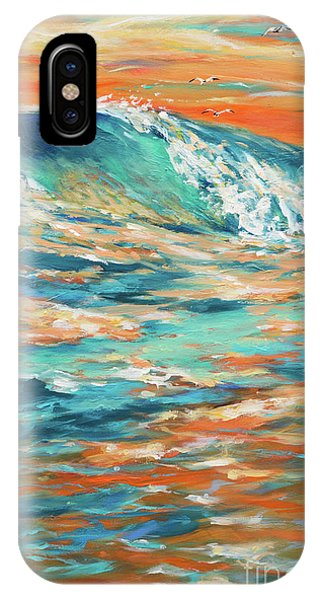 Bodysurfing At Sunset Phone Case by Linda Olsen