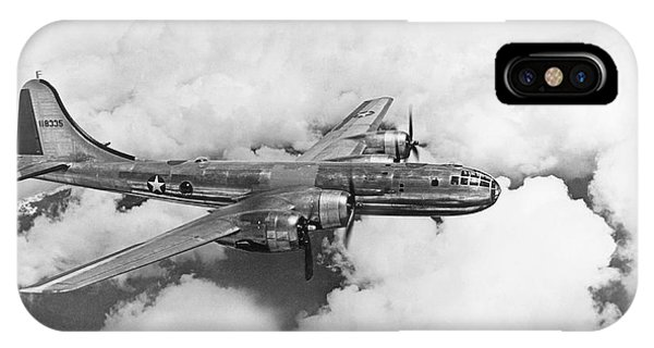 Bomber iPhone Case - Boeing B-29 Superfortress by Underwood Archives
