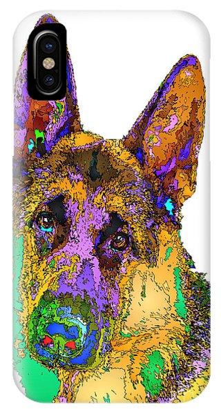 Bogart The Shepherd. Pet Series IPhone Case