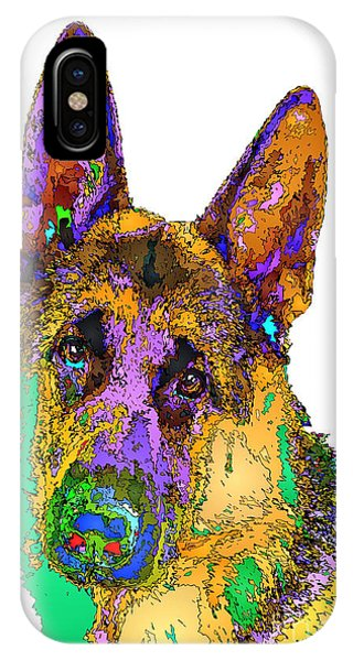 Bogart The Shepherd. Pet Series IPhone Case