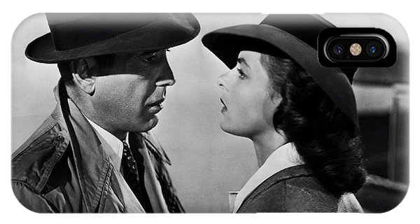 Movie iPhone Case - Bogey And Bergman Casablanca  1942 by Daniel Hagerman