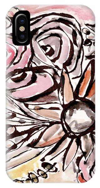 Bouquet iPhone X Case - Bohemian Garden 1- Art By Linda Woods by Linda Woods