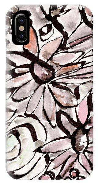Bouquet iPhone X Case - Bohemian Garden 2- Art By Linda Woods by Linda Woods