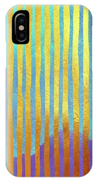 Bohemian Gold Stripes Abstract IPhone Case