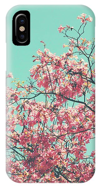 Aqua iPhone Case - Boho Cherry Blossom 2- Art By Linda Woods by Linda Woods