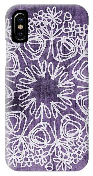 Boho Floral Mandala 2- Art By Linda Woods IPhone Case