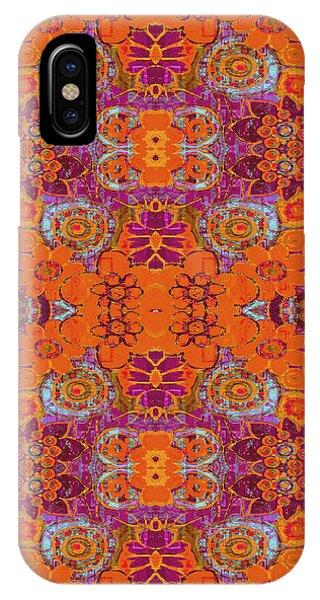 Boho Hippie Garden - Tangerine IPhone Case