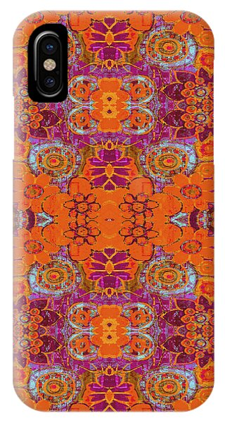 Boho Hippie Garden - Tangerine IPhone Case