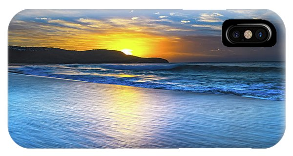 Bold And Blue Sunrise Seascape IPhone Case
