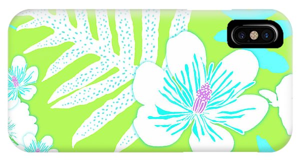 Bold Fern Floral - Lime IPhone Case