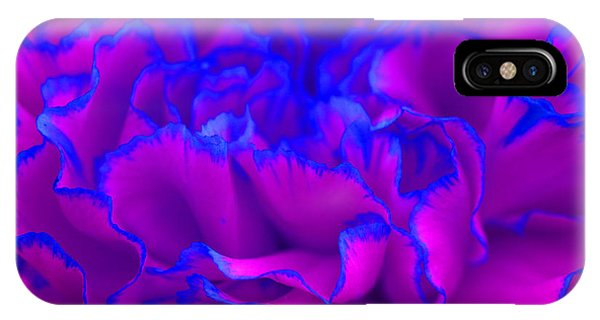 Bold Fuschia Pink And Blue Carnation Flower IPhone Case
