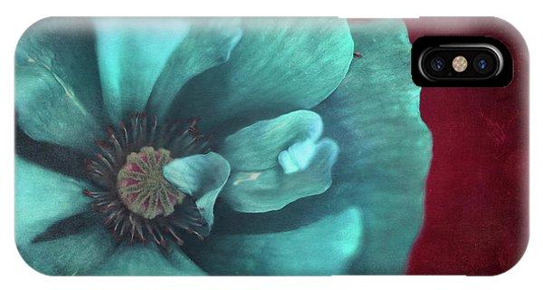 Teal iPhone Case - Bold Poppy by Priska Wettstein