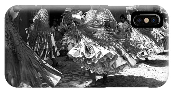 Bolivian Dance Black And White IPhone Case