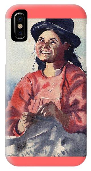 Bolivian Seamstress IPhone Case