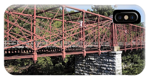 Bollman Truss Bridge At Savage In Maryland IPhone Case