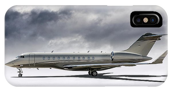 Jet iPhone X / XS Case - Bombardier Global 5000 by Douglas Pittman