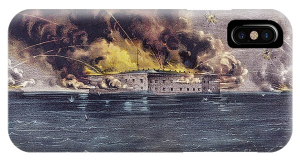 Fire Ball iPhone Case - Bombardment Of Fort Sumter, Charleston Harbor, Signaled The Start Of The American Civil War by American School