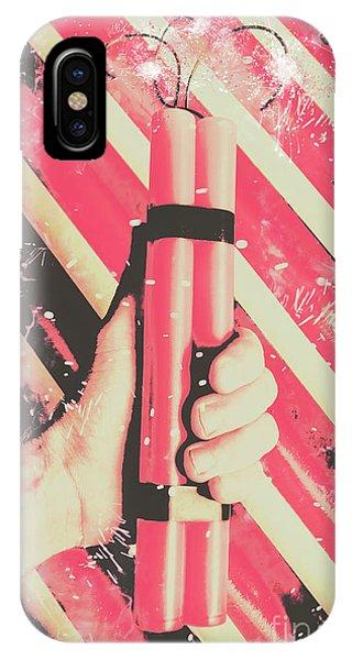 Danger iPhone Case - Bomber Man Hand by Jorgo Photography - Wall Art Gallery