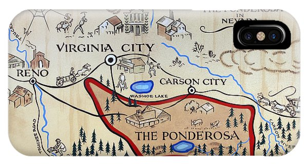 Bonanza Series Ponderosa Map  1959 IPhone Case