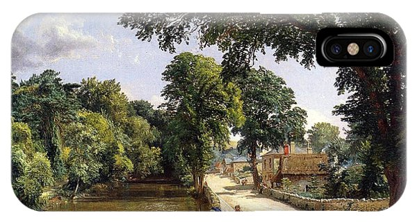 English Village iPhone Case - Bonchurch Isle Of Wight by Jasper Francis Cropsey
