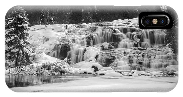 Bond Falls In Black And White IPhone Case