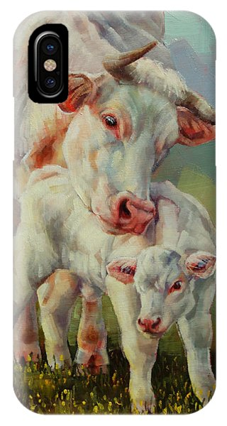 Bonded Cow And Calf IPhone Case