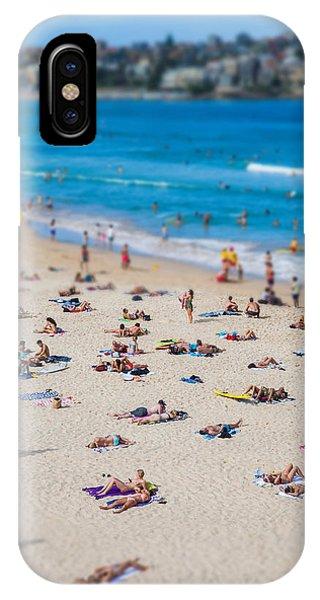 South Pacific Ocean iPhone Case - Bondi People by Az Jackson