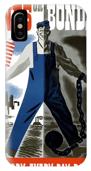 American Flag iPhone Case - Bonds Or Bondage -- Ww2 Propaganda by War Is Hell Store