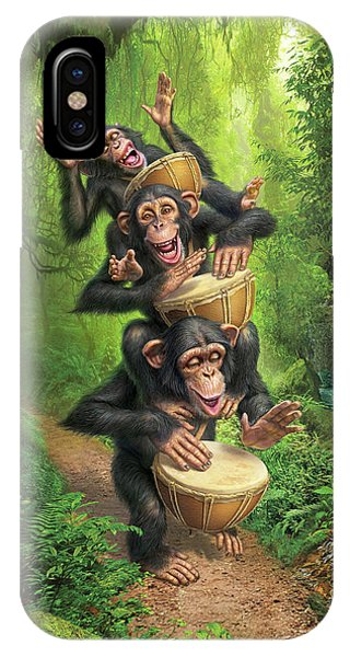 Drum iPhone Case - Bongo In The Jungle by Mark Fredrickson