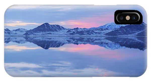 Salt Water iPhone Case - Bonneville Lake by Chad Dutson