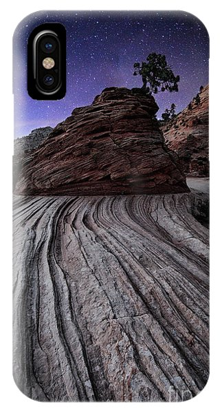 Bonzai In The Night Utah Adventure Landscape Photography By Kaylyn Franks IPhone Case