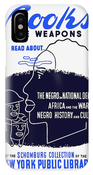 African American iPhone Case - Books Are Weapons - Wpa by War Is Hell Store
