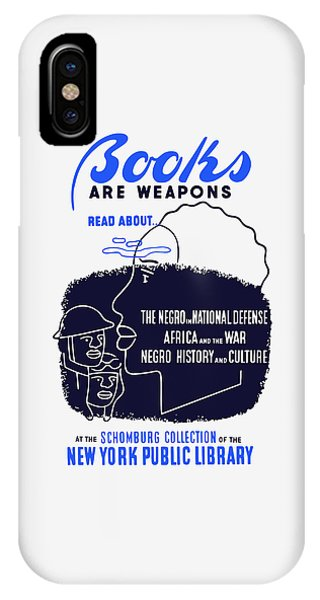 Reading iPhone Case - Books Are Weapons - Wpa by War Is Hell Store