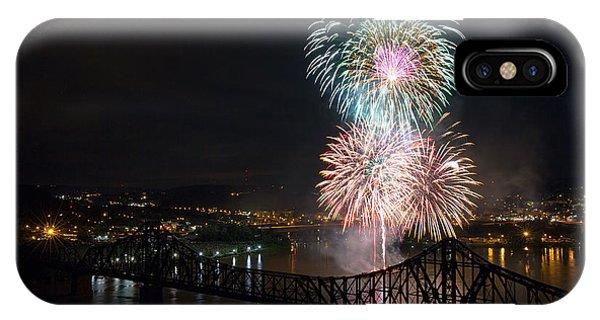 Fireworks iPhone Case - Beaver County Fireworks 3 by Emmanuel Panagiotakis