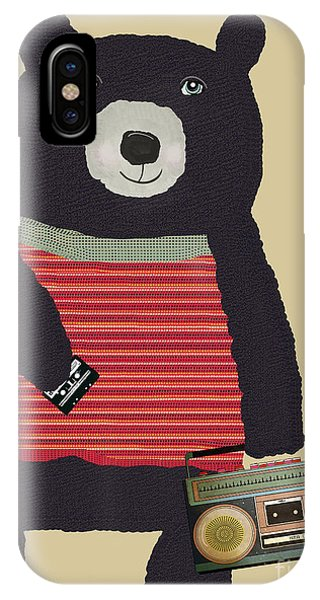 Mixed-media iPhone Case - Boomer Bear  by Bri Buckley