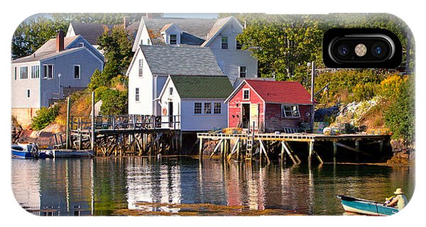 Nubble Light iPhone X Case - Boothbay  Maine by Emmanuel Panagiotakis