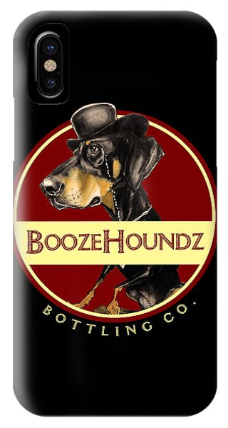 Caricature iPhone Case - Boozehoundz Bottling Co. by John LaFree