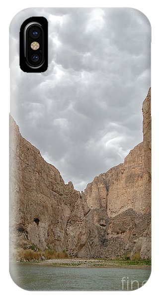 Boquillas Canyon And Scalloped Clouds Big Bend National Park Texas IPhone Case