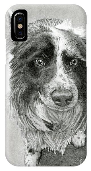 Hyper Realism iPhone Case - Border Collie by Sarah Batalka