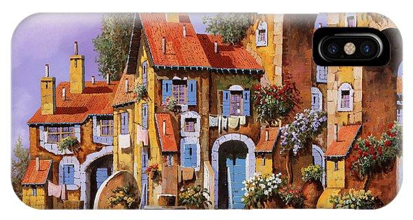 Village iPhone Case - Borgo A Colori by Guido Borelli