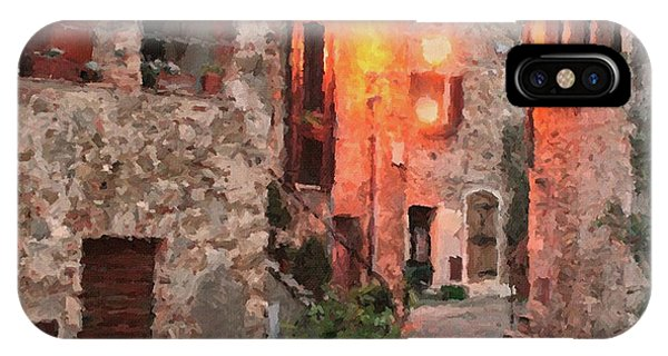 IPhone Case featuring the painting Borgo Medievale by Rosario Piazza