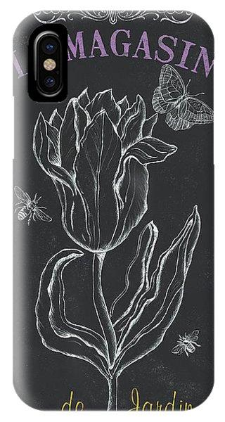 White Tulip iPhone Case - Botanique 4 by Debbie DeWitt