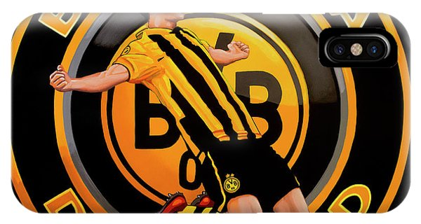 Borussia Dortmund iPhone Case - Borussia Dortmund Painting by Paul Meijering