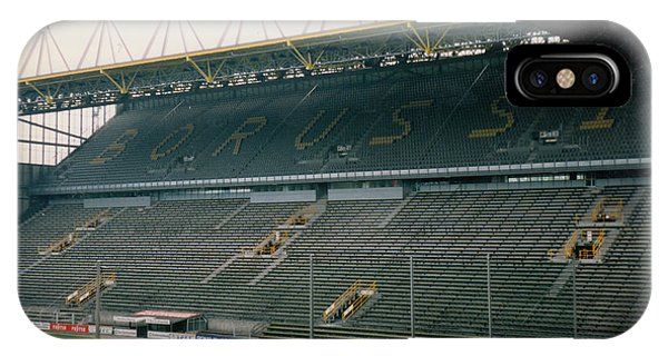 Borussia Dortmund iPhone Case - Borussia Dortmund - Westfalenstadion - East Stand 1 - April 1997 by Legendary Football Grounds