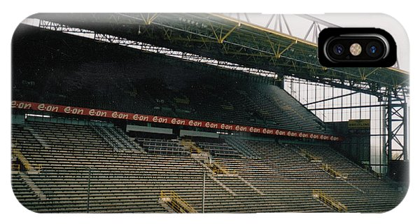 Borussia Dortmund iPhone Case - Borussia Dortmund - Westfalenstadion - East Stand 2 - April 2001 by Legendary Football Grounds