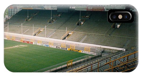 Borussia Dortmund iPhone Case - Borussia Dortmund - Westfalenstadion - North Stand 1 - April 1997 by Legendary Football Grounds