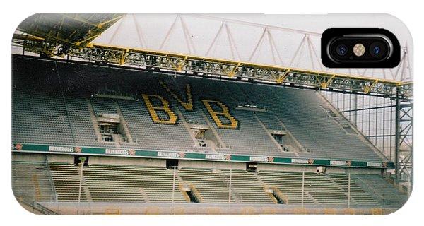 Borussia Dortmund iPhone Case - Borussia Dortmund - Westfalenstadion - North Stand 2 - April 2001 by Legendary Football Grounds