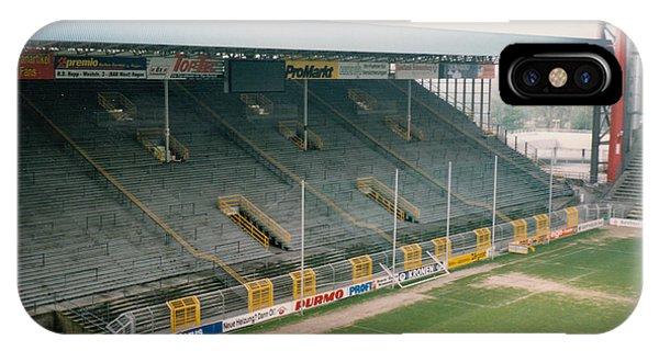Borussia Dortmund iPhone Case - Borussia Dortmund - Westfalenstadion - South Stand 1 - April 1997 by Legendary Football Grounds