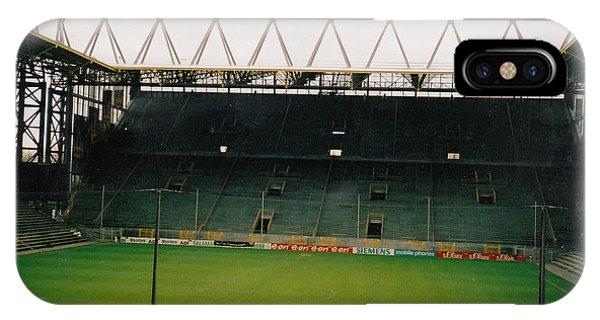 Borussia Dortmund iPhone Case - Borussia Dortmund - Westfalenstadion - South Stand 2 - April 2001 by Legendary Football Grounds